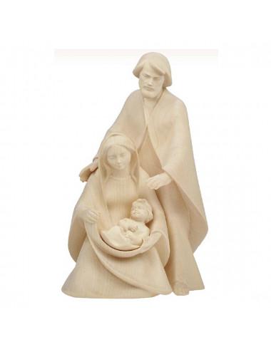 Imagen de la Sagrada Familia realizada en madera