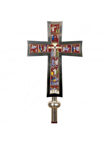 Cruz procesional con escenas de la Vida de Cristo
