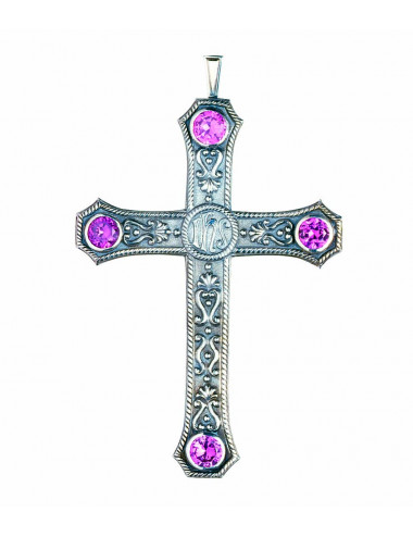 Classic style pectoral cross with JHS motif