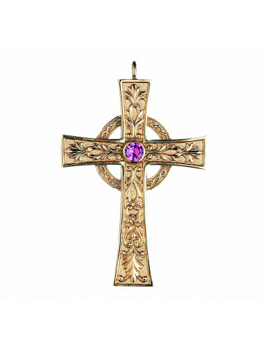 Classic style pectoral cross made in sterling silver