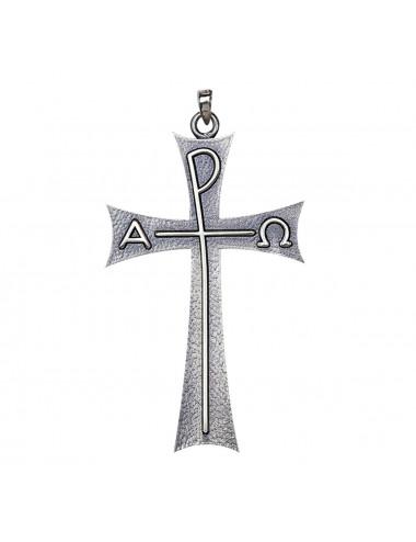 Cruz pectoral realizada en plata de ley