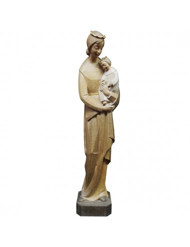 Virgin hugging the Child image made in wood carving