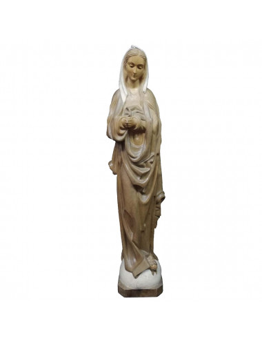Virgin Inmaculada Conception image made in wood carving