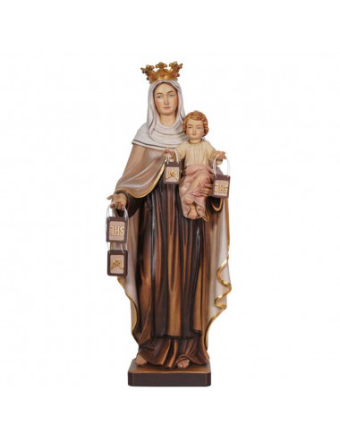 Our Lady of Carmen image made in wood carving