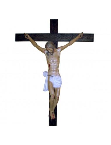 Cristo Crucificado talla madera abedul