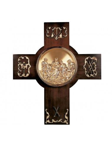 Vía Crucis clásico madera y bronce