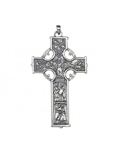 Pectoral Cross with scenes made in sterling silver