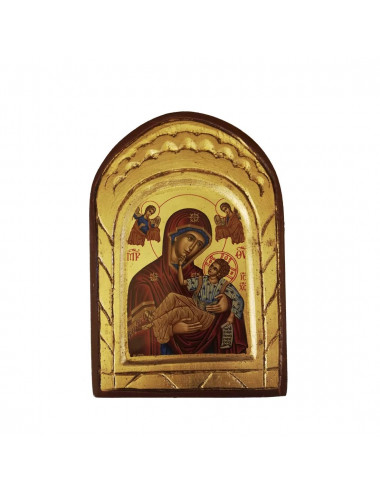 Greek icon with the Virgin of Perpetual Help imagen hand painted