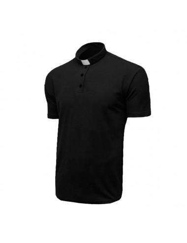 Short sleeved clergyman polo shirt