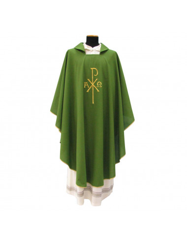 Gothic Chasuble with PX, alpha and omega motifs