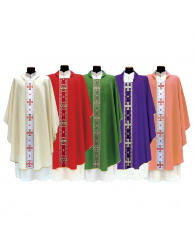Gothic Chasuble with Maltesse crosses braid