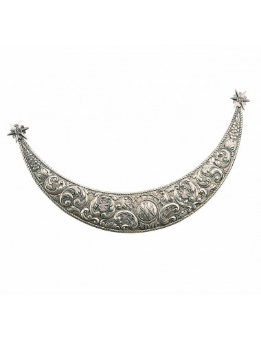 Half moon brass or sterling silver