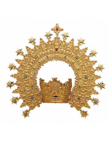 Corona sin Imperial metal o plata y piedras