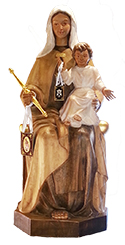 Our lady of Carmen, image of our lady of carmen, religious imagery, wood carvings, santarrufina